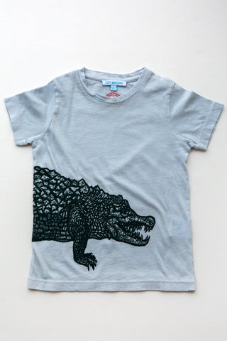 lucky fish on lost & found tee lt blue crocodile