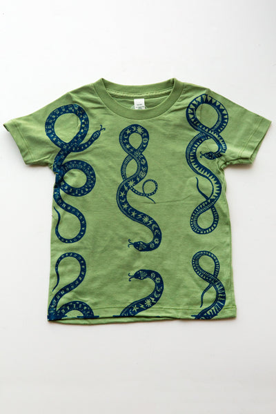 lucky fish green serpent tee