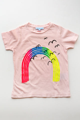 lucky fish on lost & found tee lt pink over the rainbow