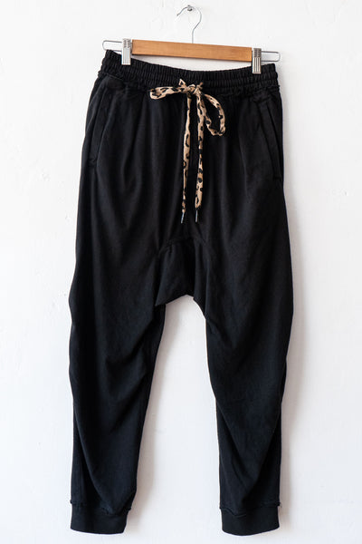 R13 Acid Black Harem Sweat Pant