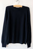 6397 Navy Raglan Crew Sweater