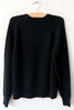 6397 Black Raglan Crew Sweater