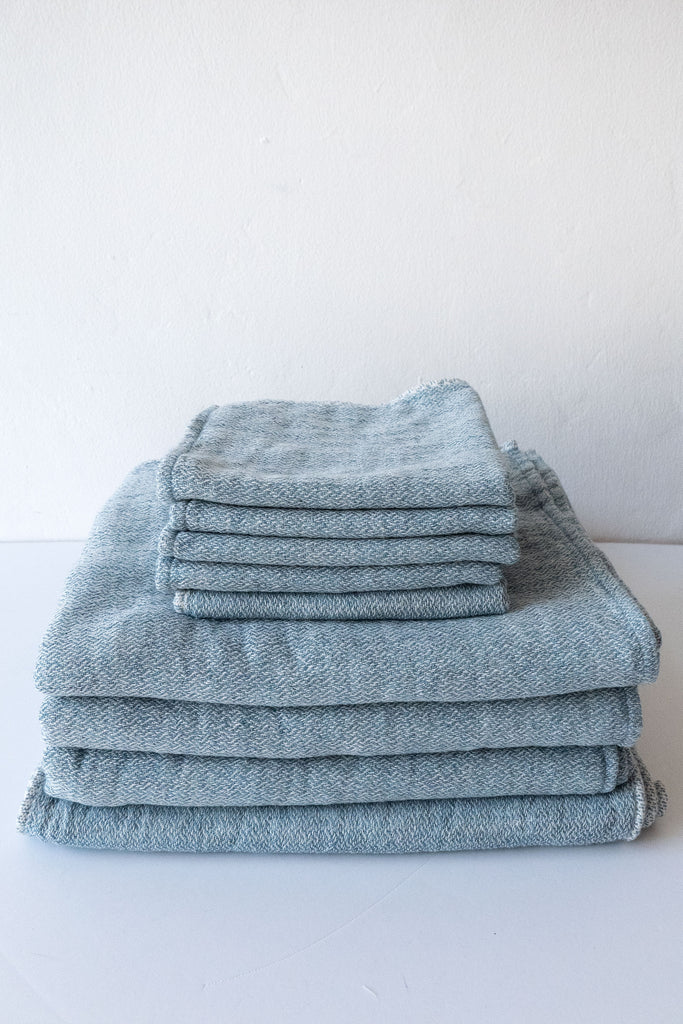 Morihata River Blue Claire Towels
