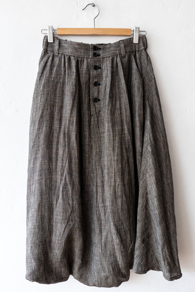 Pas De Calais 8097 Black Plaid Pant/Skirt