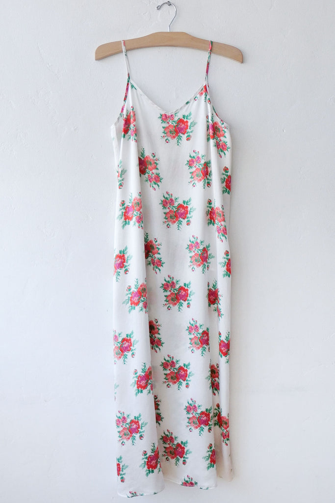 R13 Red Roses Slip Dress