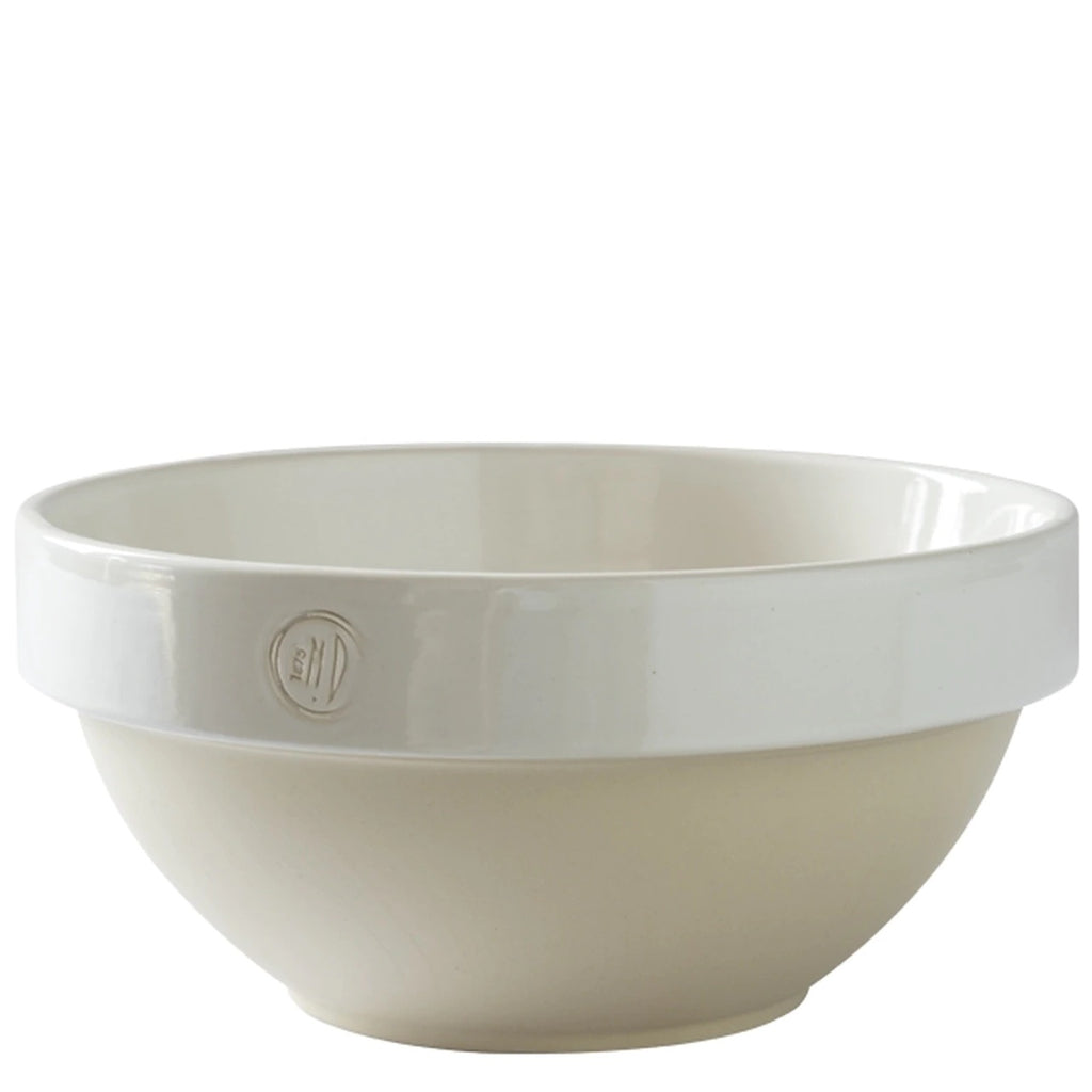 Manufacture de Digoin White Salad Bowl 5.3l