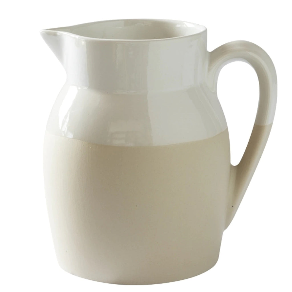 Manufacture de Digoin White Pitcher Jug