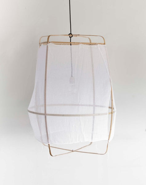 nelson sepulevda bamboo and cotton pendant light