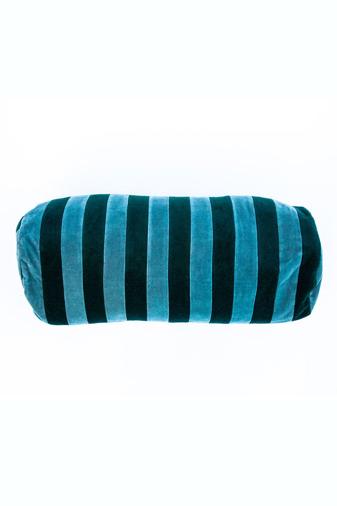 Christina Lundsteen Stripe Blue/Emerald Cushion 6x16