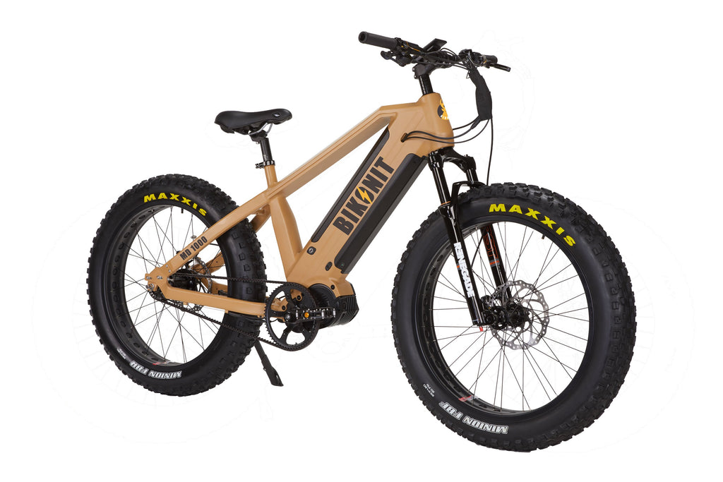 Bikonit MD1000 all terrain hunting fishing powerful fat tire out door exploring RV camping Bafang Ultra mid drive air suspension quietkat rambo rouge ride surface Leili belt drive ebike