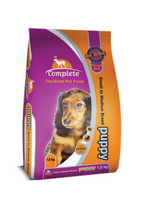 Complete Puppy Small/Medium Ostrich 1.5kg & 7kg