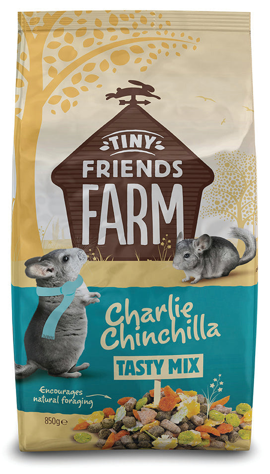 Tiny Friends Farm Charlie Chinchilla Original 850g & 2.5kg