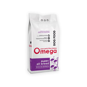 Omega Puppy All Breed Ostrich 8kg & 20kg