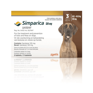 Simparica Chewable Tick & Flea Treatment 40.1-60kg
