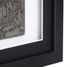 30 x 30 cm Single Medal Display Frame - Black Frame, Black Mount Card & White Backing Card
