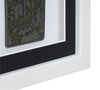 30 x 30 cm Single Medal Display Frame - White Frame, Black Mount Card & White Backing Card