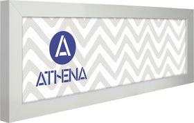 Athena Panoramic Matt White Block Premium Wood Picture Frame