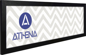Athena Panoramic Black Woodgrain Thin Premium Wood Picture Frame