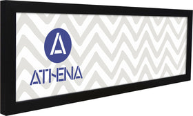 Athena Panoramic Black Woodgrain Thin Block Premium Wood Picture Frame