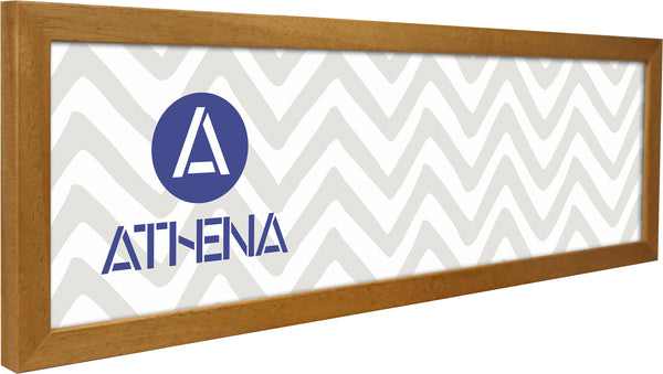 Athena Panoramic Honey Oak Thin Block Premium Wood Picture Frame