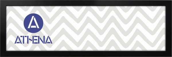 Athena Panoramic Matt Black Thin Block Premium Wood Picture Frame