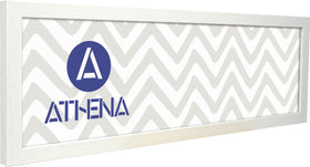 Athena Panoramic White Woodgrain Thin Block Premium Wood Picture Frame