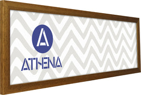 Athena Panoramic Honey Oak Thin Premium Wood Picture Frame