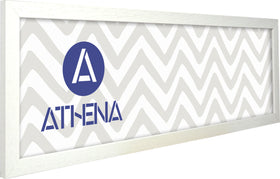 Athena Panoramic White Woodgrain Thin Premium Wood Picture Frame
