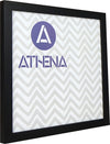 Athena Black Woodgrain Thin Block Premium Wood Picture Frame
