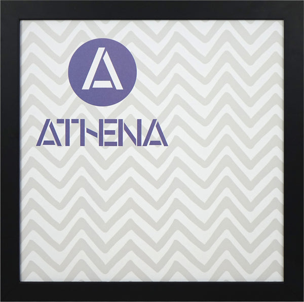 Athena Matt Black Thin Block Premium Wood Picture Frame