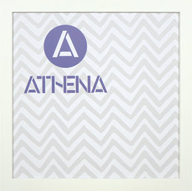 Athena Matt White Thin Block Premium Wood Picture Frame