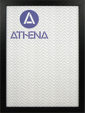 Athena Matt Black Block Premium Wood Picture Frame