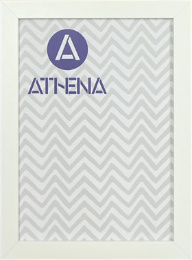 Athena Matt White Block Premium Wood Picture Frame