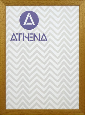 Athena Honey Oak Thin Block Premium Wood Picture Frame
