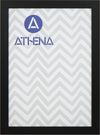 Athena Black Woodgrain Thin Premium Wood Picture Frame
