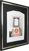 Athena Premium Wood DIY Adult Standard Sports Shirt Display Frame 60 x 80cm - Black Frame, Platinum Inner Frame, Black Backing Card