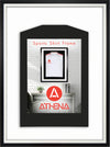Athena Premium Wood DIY Adult Standard Sports Shirt Display Frame 60 x 80cm - Black Frame, White Inner Frame, White Backing Card