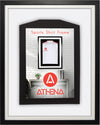 Athena Premium Wood DIY Infant Standard Sports Shirt Display Frame 40 x 50 cm - Black Frame, White Inner Frame, White Backing Card