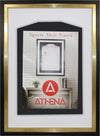 Athena Premium Wood DIY Junior Standard Sports Shirt Display Frame 50 cm x 70 cm - Black Frame, Gold Inner Frame, White Backing Card