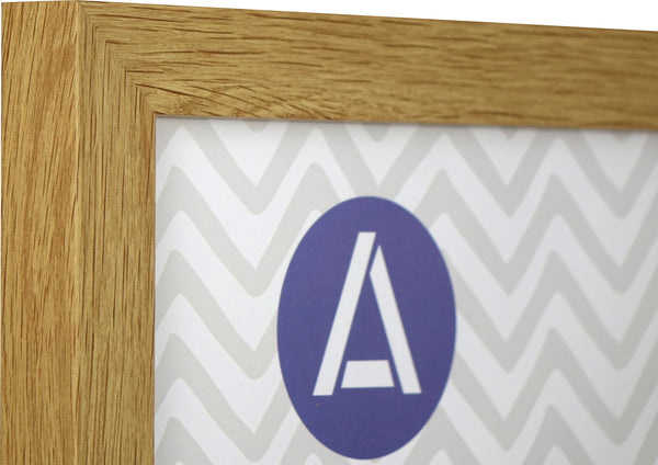 Athena Panoramic Oak Block Premium Wood Picture Frame