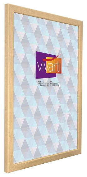 Thin Beech Finish MDF Ready Made Picture Frame