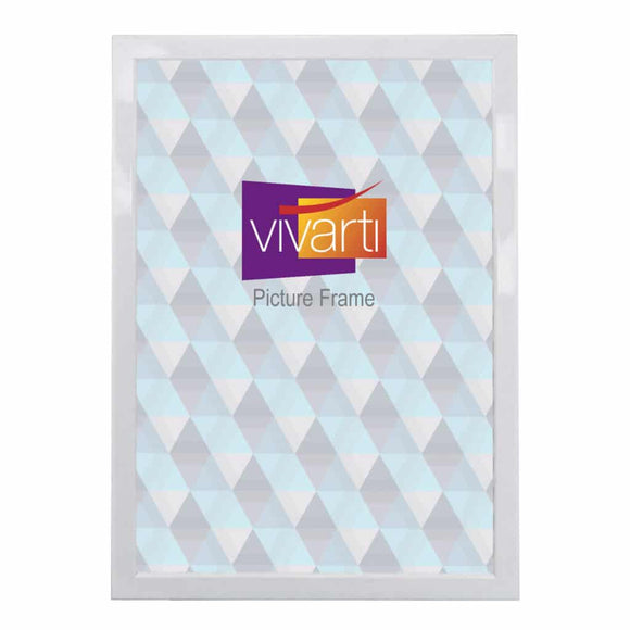 Thin Gloss White Finish MDF Ready Made Picture Frame