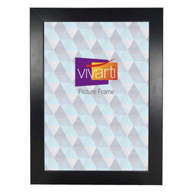 Wide Matt Black MDF Ready Made Picture Frame
