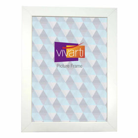 Wide Matt White MDF Ready Made Picture Frame