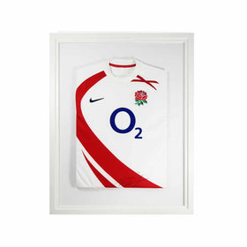 Vivarti DIY Adult Standard Sports Shirt Display Frame 60 x 80cm - White Frame, White Inner Frame, White Backing Card