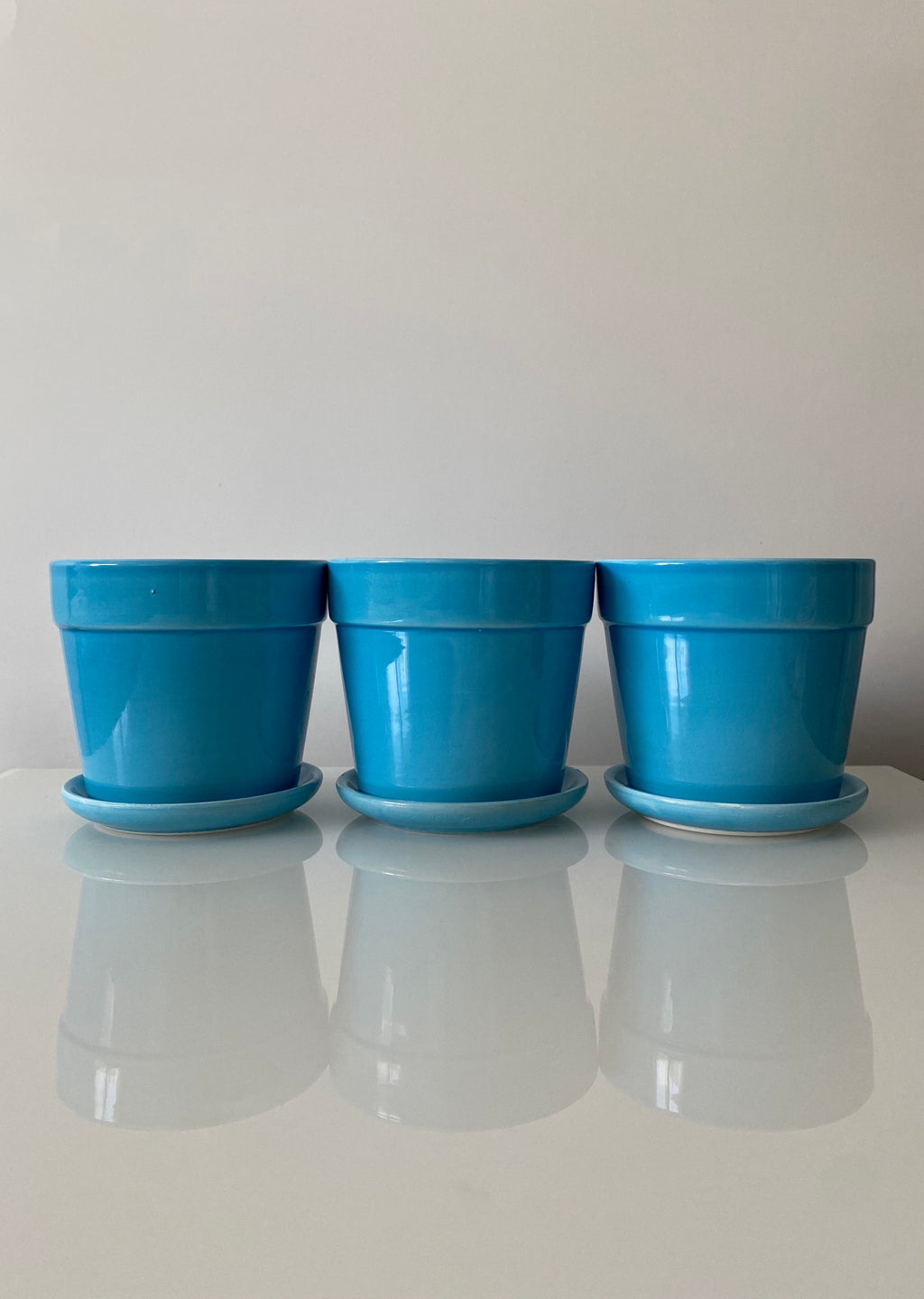 Blue Planter Set (VINTAGE)