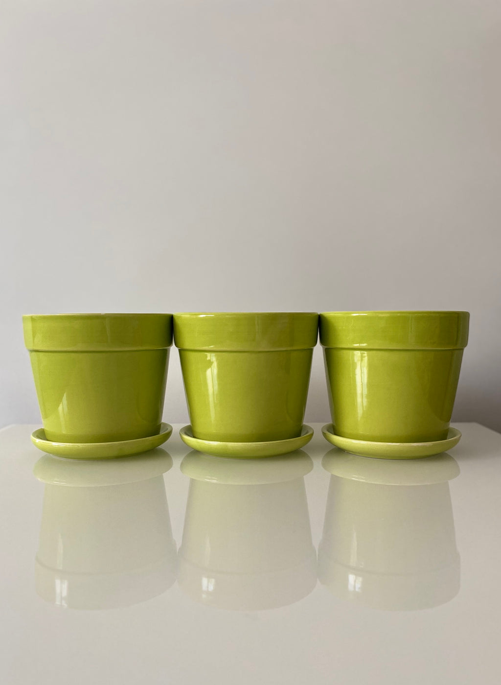 Green Planter Set (VINTAGE)