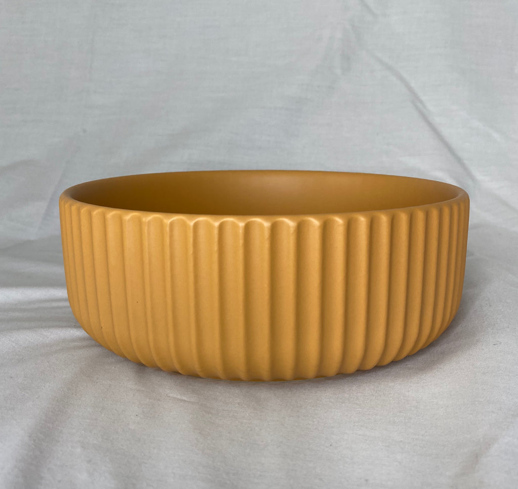 Large Yellow Ceramic Bowl