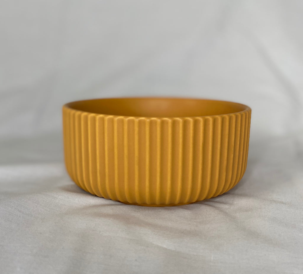 Small Yellow Ceramic Bowl