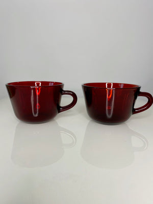Cherry Glass Teacup Set (VINTAGE)
